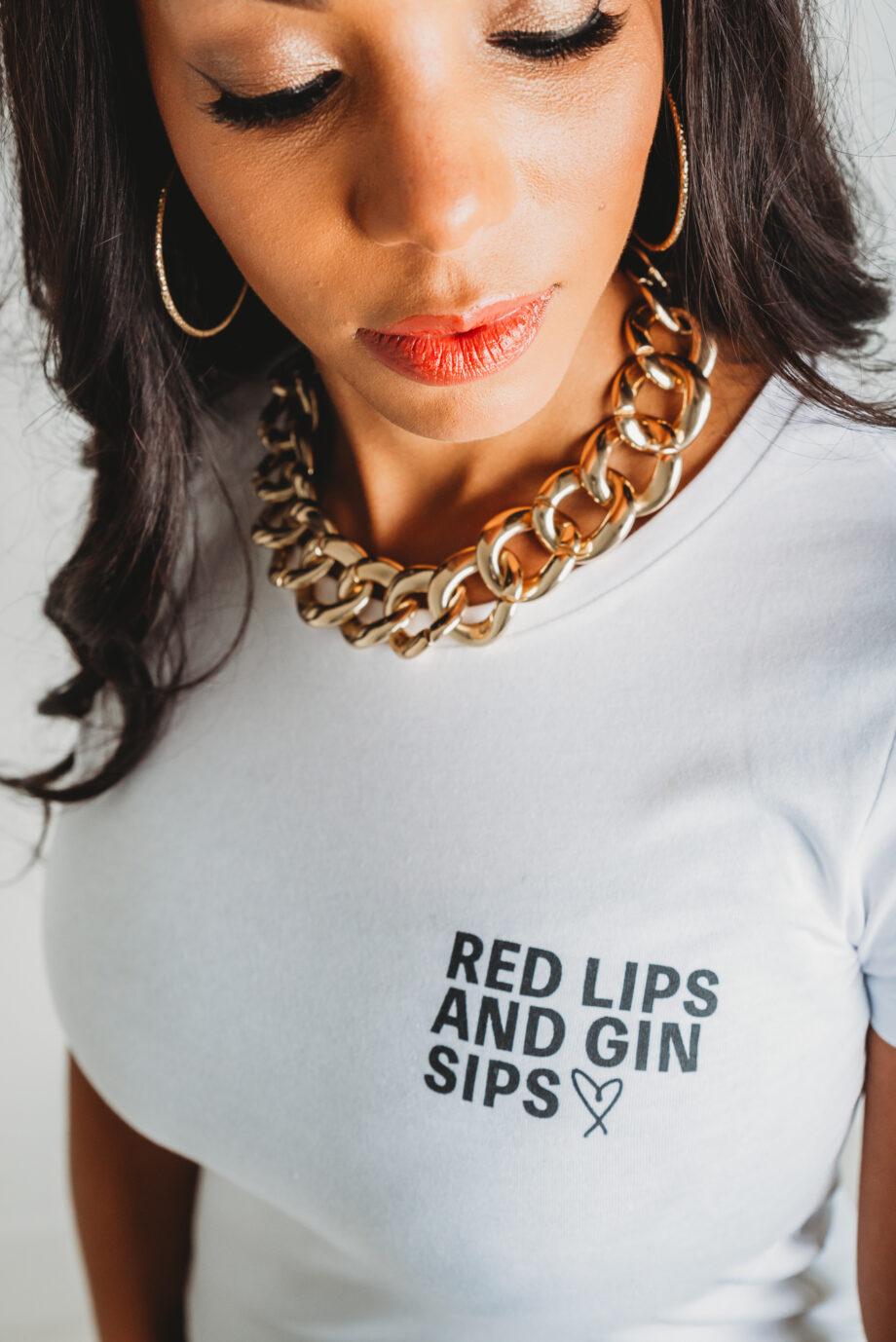 Gin print Fuller Bust Tshirt