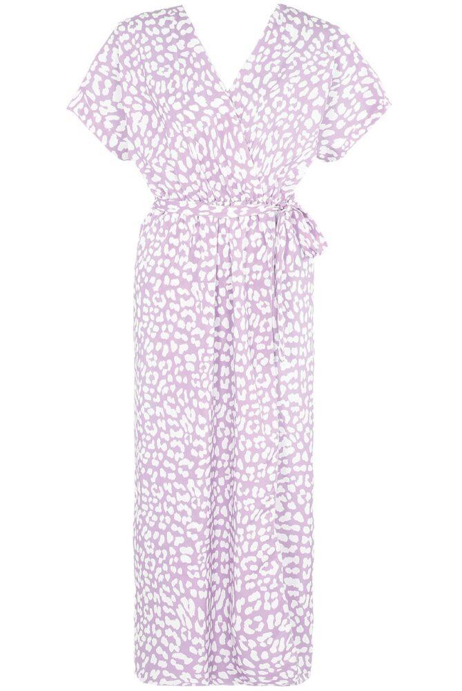 fuller bust dress animal print wrap over