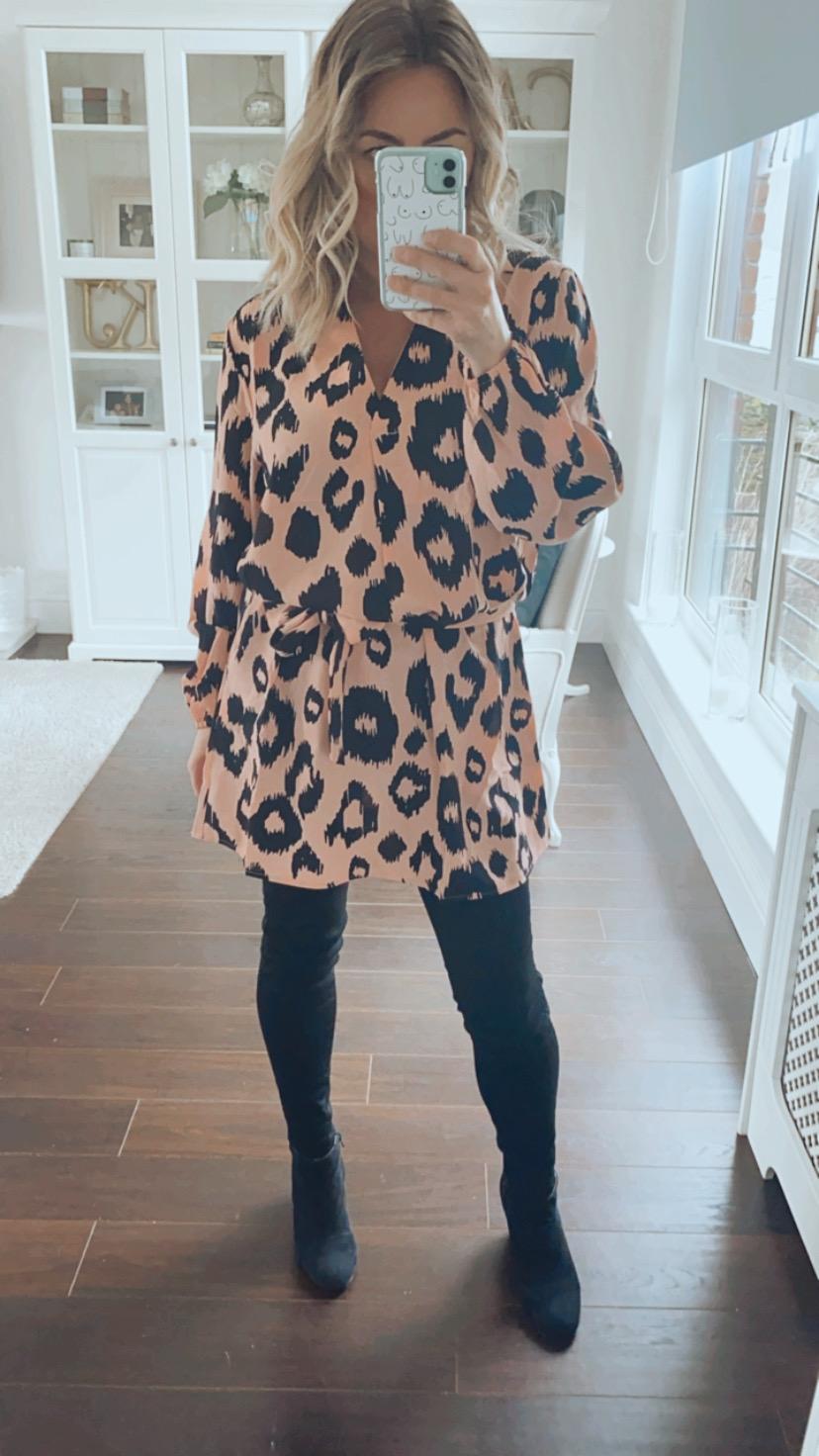 Animal print fuller bust dress