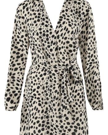 fuller bust dress with animal print