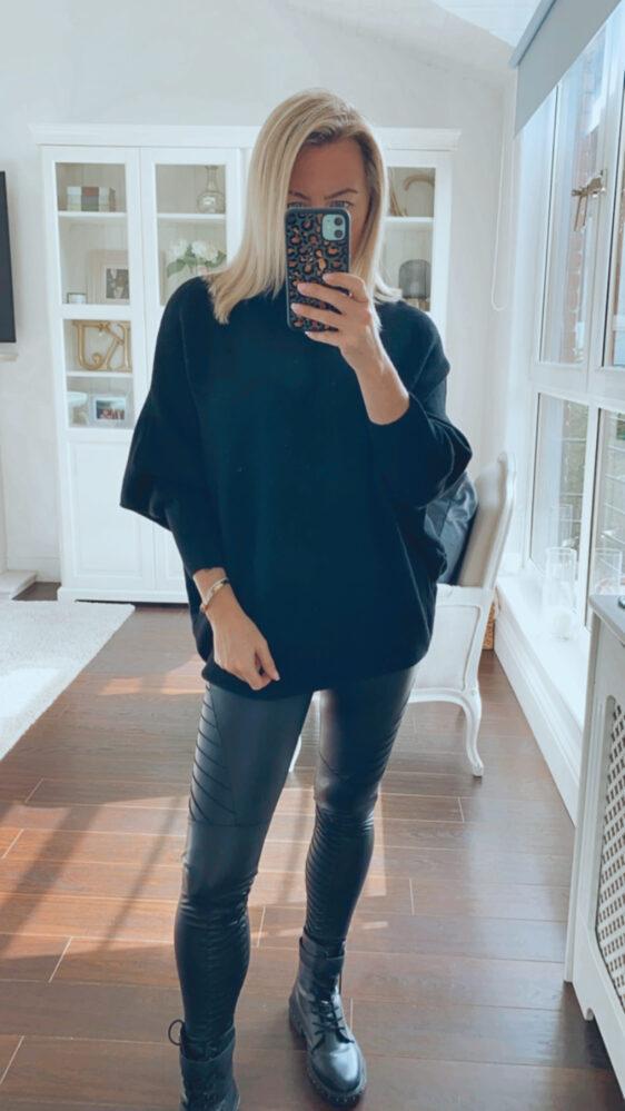 black fuller bust jumper