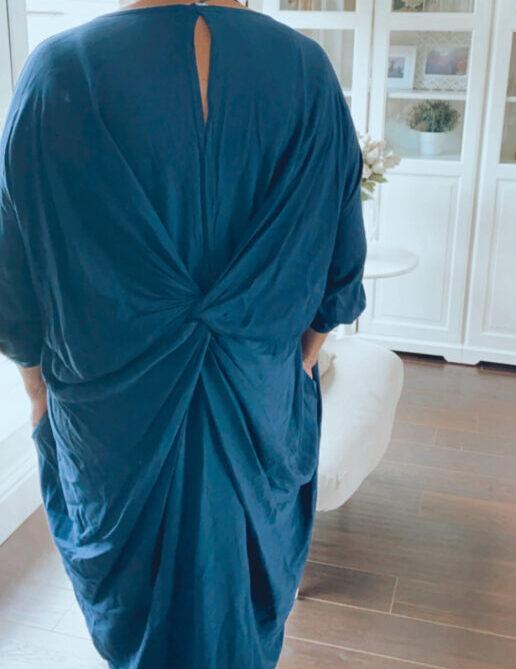 fuller bust knot back dress