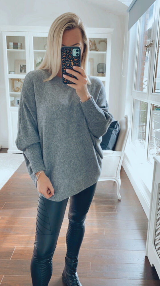 fuller bust jumper grey