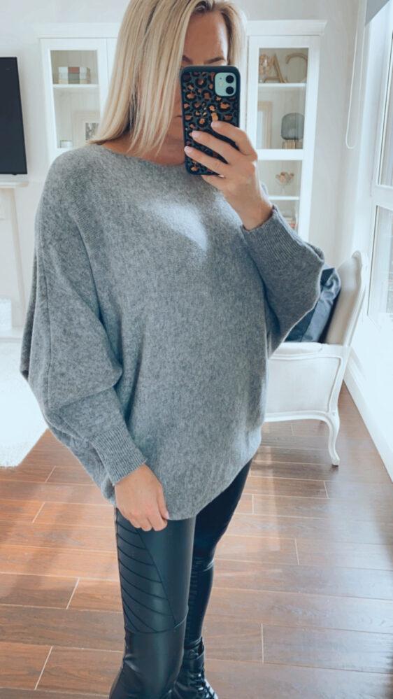 grey fuller bust jumper