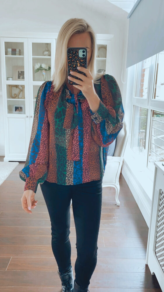 fuller bust top animal blouse