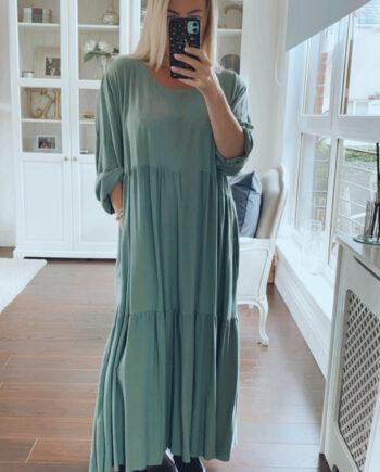 fuller bust maxi dress khaki
