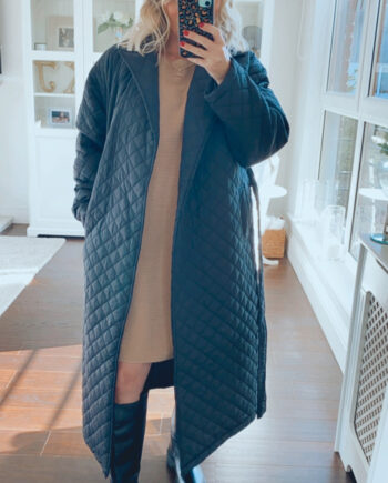 fuller bust quilted wrapover coat